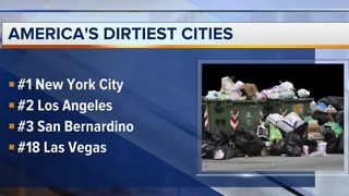 Las Vegas ranked 18th dirtiest city in America - Video