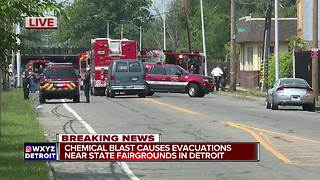 Chemical explosion with gas release in Detroit