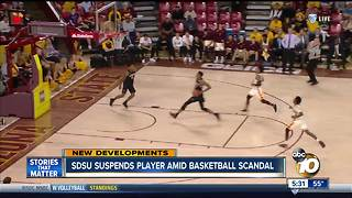 SDSU suspends players amid basketball scandal - Video