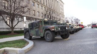 Military Police with Pennsylvania National Guard Lockdown U.S. Capitol, DC Under Military Occupation