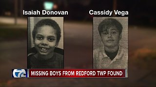 Missing 8-year old and missing 12-year-old found, Redford police say