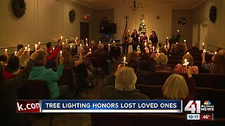Tree lighting honors lost loved ones