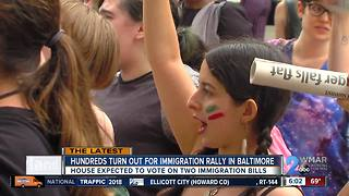 Hundreds rally at Anti-ICE protest in Baltimore - Video