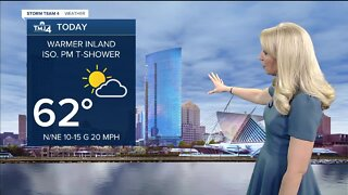 Mostly sunny to partly cloudy Friday