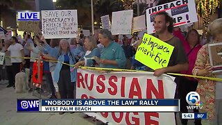 Impeachment rally held in West Palm Beach