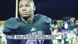 Madison Heights' Lamphere High School football team honors slain rival player