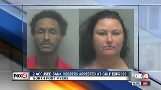Two accused bank robbers arrested in North Fort Myers