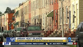 Baltimore neighborhood called a 'heat island'