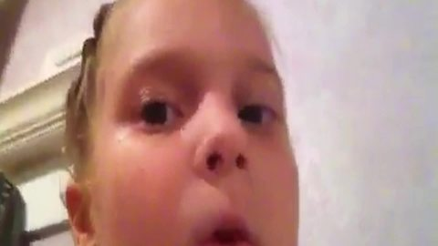 Funny Tot Girl Drops An iPhone Into A Sink And Makes This Hilarious Video