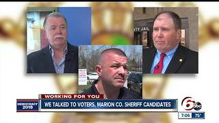 Talking to voters, Republican Marion County Sheriff candidates before May primary - Video