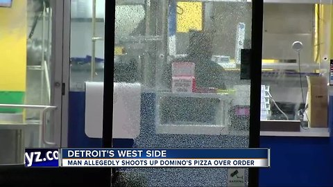 Man accused of firing shots inside Domino's Pizza in Detroit after getting upset over order