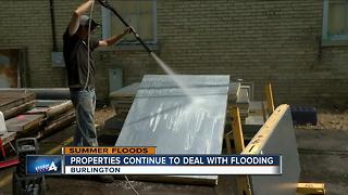 Burlington business deals with flooding