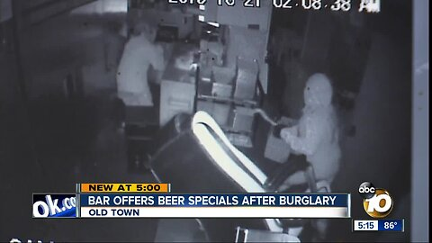 San Diego bar offers 22-cent beers after thieves steal $22