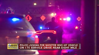 Michigan State Police investigating nonfatal shooting on I-75 near 8 Mile