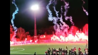 Thrilling Pyrotechnics Display Marks First Training Session of Season for Champions AIK Fotboll
