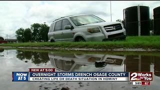 Overnight storms drench Osage County - Video