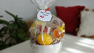 DIY 'Get Well Soon' gift basket idea - Video