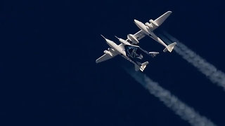 Virgin Galactic Supersonic Plane Flight Into Space