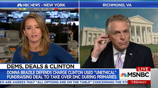 VA Gov McAuliffe Blows Off Brazile's Explosive Charges About Hillary and DNC: 'Nobody Cares' - Video