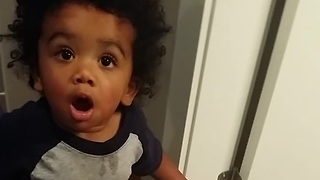 Toddler hilariously argues with mother over vacuum cleaner - Video