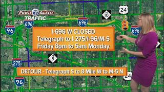 Weekend construction across metro Detroit