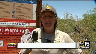 Hikers take to the trails in hot weather - Video