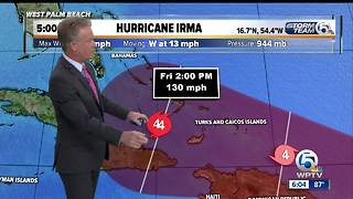 Irma grows to Cat 4 hurricane with 130 mph winds - Video