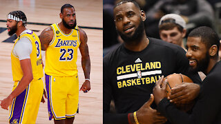 """LeBron James Claps Back At Kyrie Saying He And AD Work Because They're """"Not Jealous Of Each Other"""""""