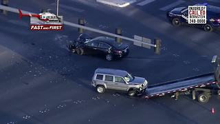 Chopper 13 over a crash on 215, Aliante Parkway - Video
