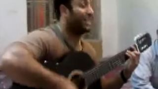 Amazing Man Sings and Plays Guitar