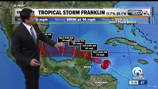 Tropical Storm Franklin 11 a.m. update (8/7/17) - Video