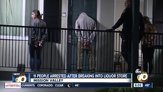 11 people suspected in Mission Valley break-in
