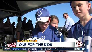Children from Riley visit Colts camp