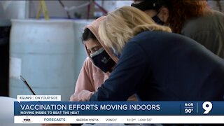 Vaccination effort moving indoors