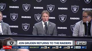 Jon Gruden introduced as Raiders coach - Video