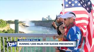 Friends running 1,000 miles for suicide prevention - Video