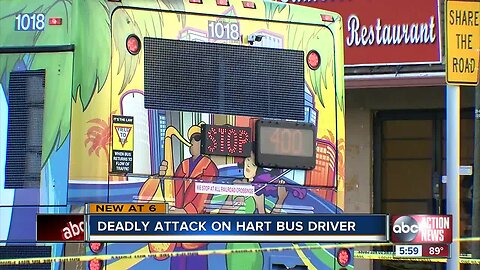 "Police: Suspect caught on camera saying ""God bless you"" before deadly stabbing of HART bus driver"