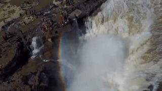 Hukou Waterfall's Splendor Revealed in Stunning Drone Footage - Video