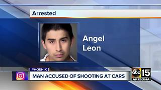 Man accused of shooting at cars in Phoenix - Video