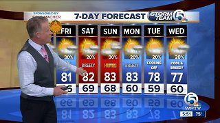 Latest Weather Forecast 6 p.m. Wednesday