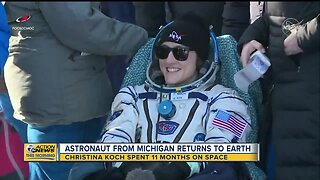 Michigan astronaut lands back on earth after setting record