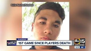 Moon Valley football team honors fallen teammate - Video