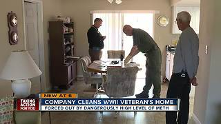Company cleans WWII veteran's home - Video