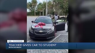 Boynton Beach teacher gives car to student