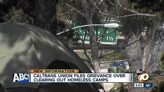 Union files grievance over homeless camp cleanup - Video