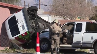 Crash sends van into home near Washington, F Street - Video