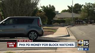 Phoenix PD offering money for block watches - Video