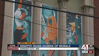 Teacher invites vandals to join mural project - Video