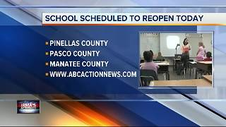 Schools scheduled to reopen today in most Tampa Bay Area counties - Video