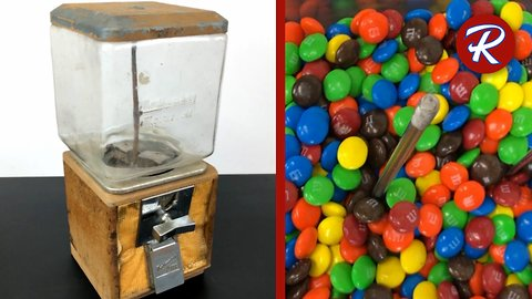 Five cent candy vending machine restoration